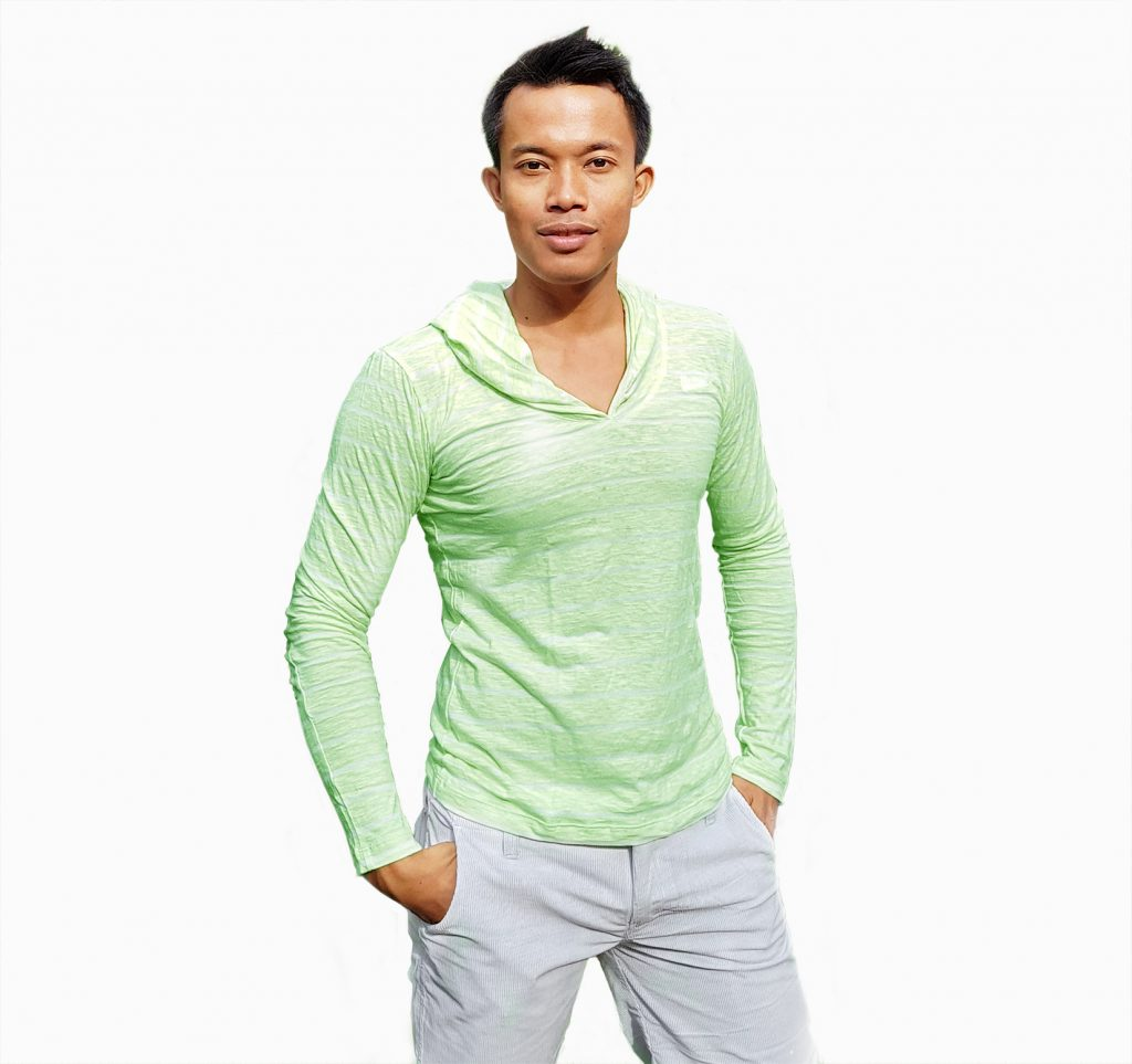 CITY B**CH Long Sleeve light green with back cover head