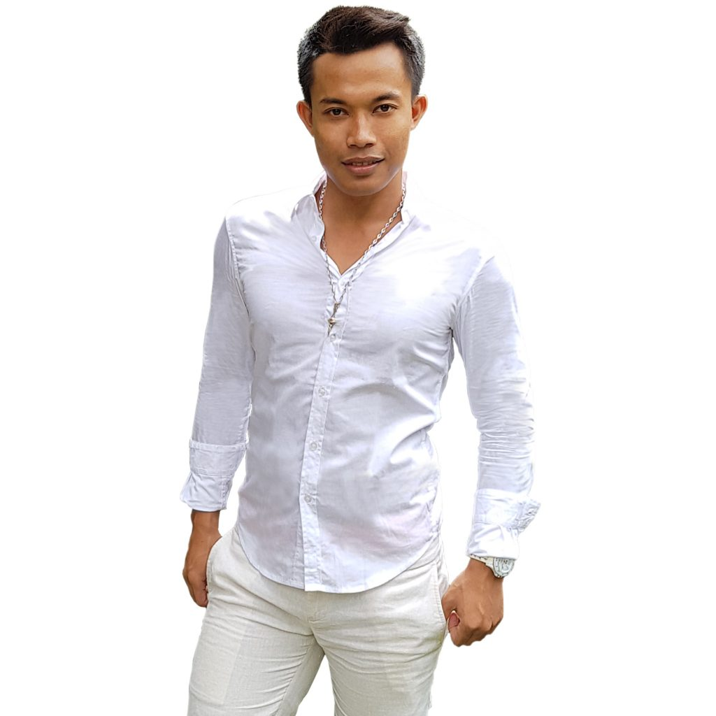 CITY B**CH Long Sleeves Slim Fit Shirt White